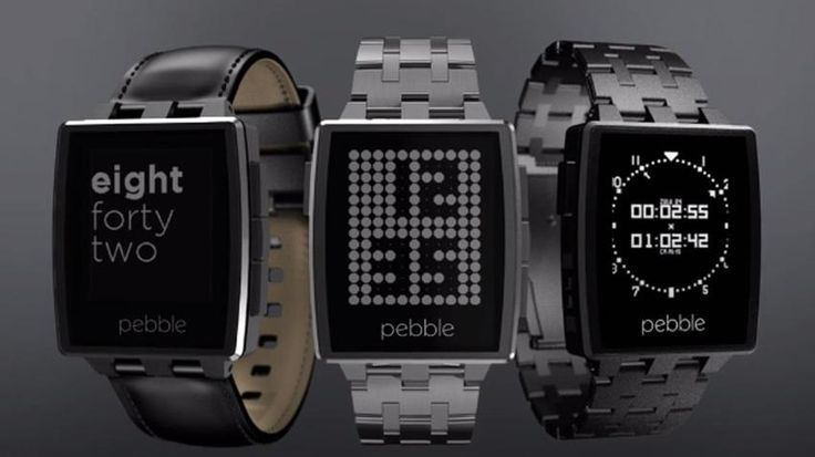 The Pebble Steel Smartwatch.