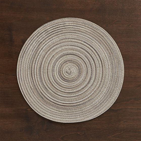 Stria Neutral Placemat  | Crate and Barrel