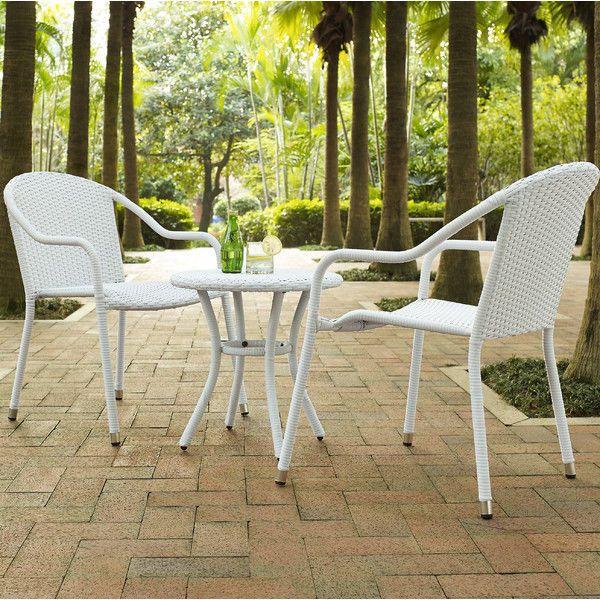 Outdoor 3 Piece Patio Furniture Bistro Set Chair Table Garden Backyard Deck Pool #BungalowRose