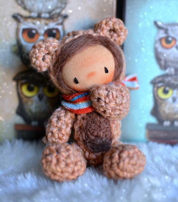 Waldorf doll crochet bear amigurumi teddy bear waldorf