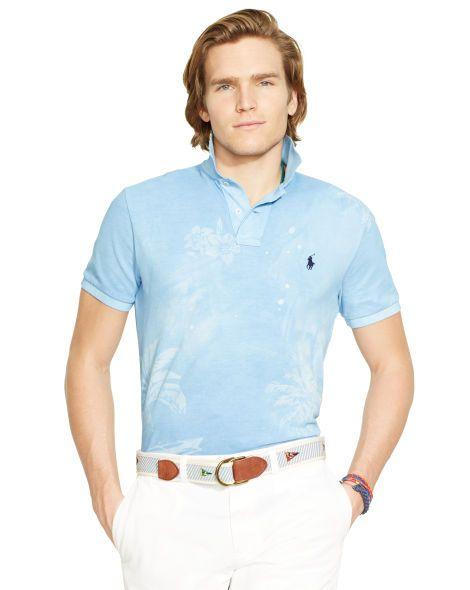 Tropical Mesh Polo Shirt - Polo Ralph Lauren Custom-Fit - RalphLauren.com