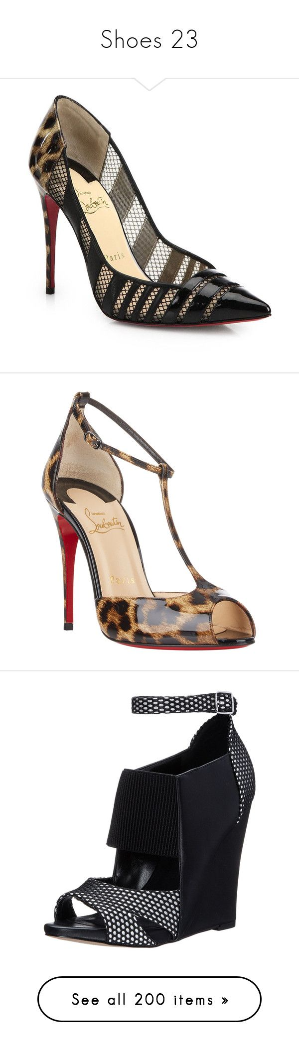 """""""Shoes 23"""" by singlemom ❤ liked on Polyvore featuring shoes, pumps, heels, christian louboutin, apparel & accessories, black shoes, black patent pumps, pointed toe pumps, christian louboutin pumps and black patent leather shoes"""