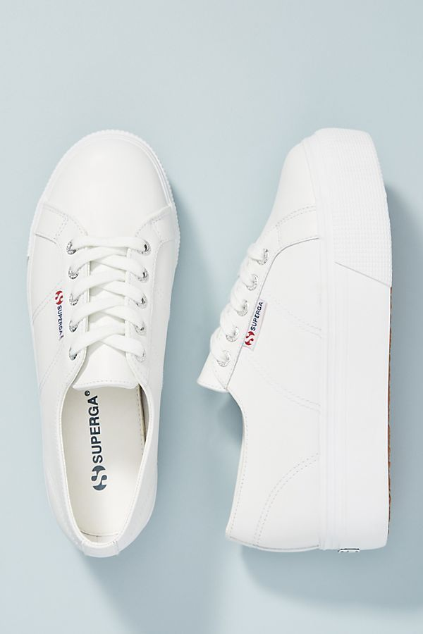 Superga Leather Platform Sneakers in