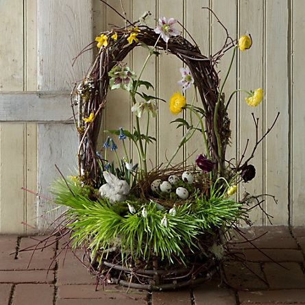 Easter Spring Decorating. Basket and idea from Terrain