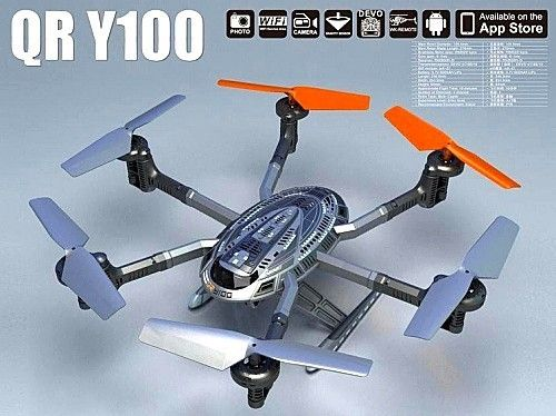 99.99$  Buy now - http://ali3l0.worldwells.pw/go.php?t=32247364969 - free shipping Walkera QR Y100 FPV Wifi Aircraft UFO RC Quadcopter Drone helicopter with camera brushless motor VS dji phantom 2 99.99$
