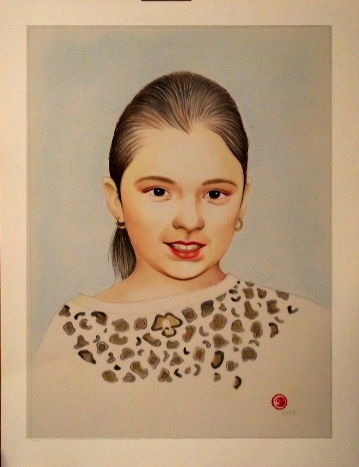 Retrato a lápis de cor