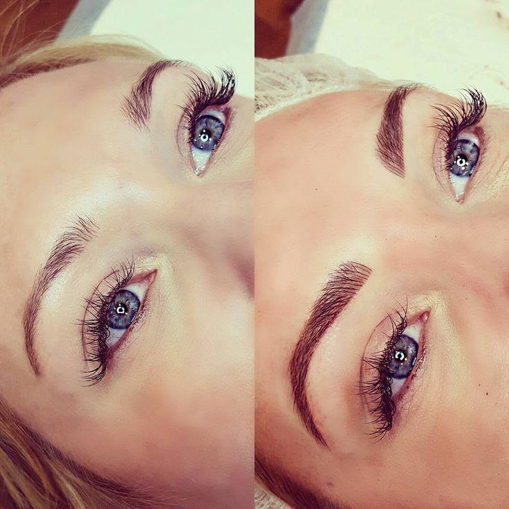 nice Стильный перманентный макияж бровей — Фото до и после, отзывы