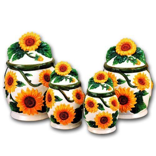 sunflower ceramic dinnerware set sunflower 3d canisters