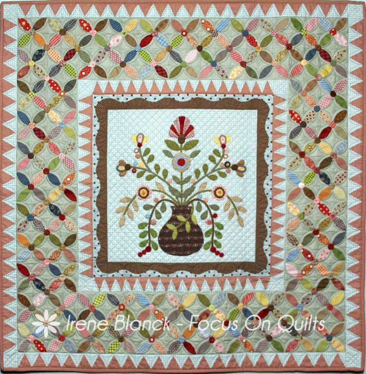 Applique Quilt Border Patterns | image of eva grace quilt by irene blanck
