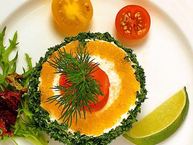 Smörgåsbakelse med skagenröra och lax (kock recept.nu)