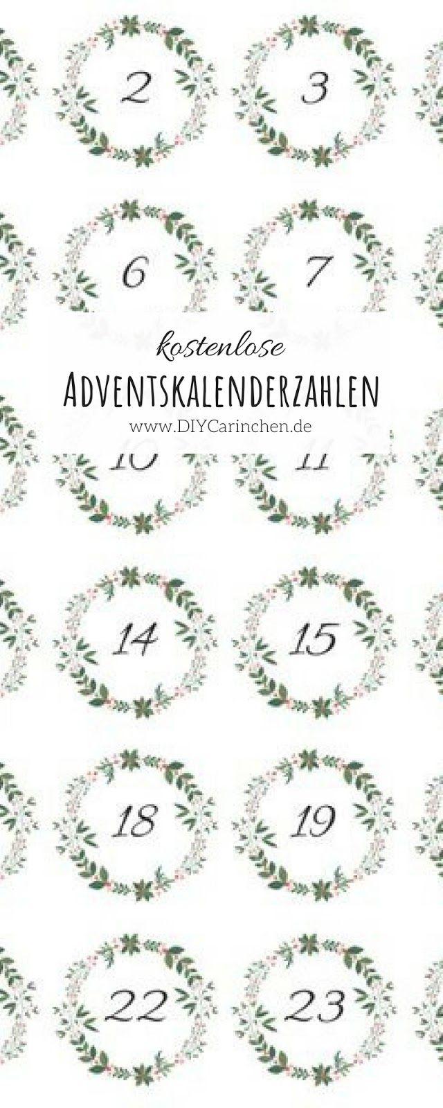 Kostenlose Weihnachtsgeschenke.Diy Kostenlose Adventskalender Zahlen Als Pdf Zum Ausdrucken Mein