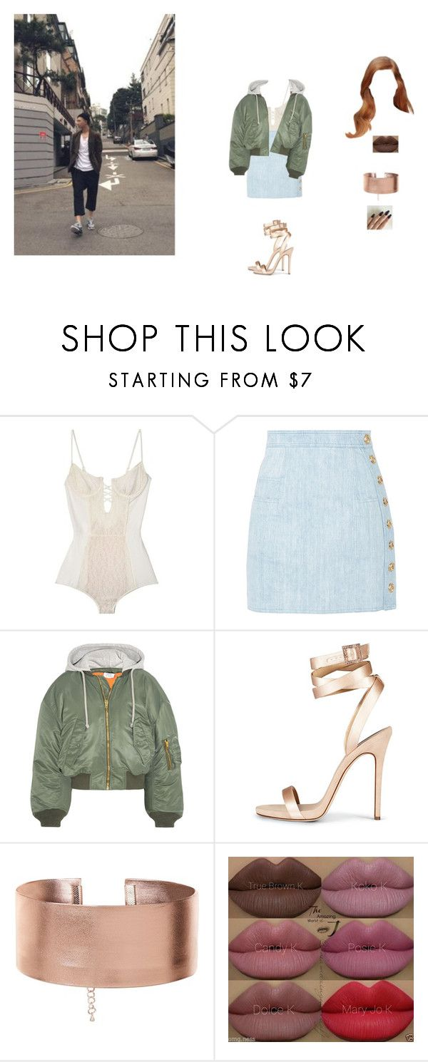"""""""hanging with  Kim Namjoon"""" by unicorn-923 ❤ liked on Polyvore featuring Balmain, Vetements and Kylie Cosmetics"""