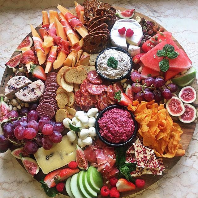Now this is a grazing platter! This gorgeous platter by @kristielle_ has us looking forward to next weekend already! Love your work. Apps snacks
