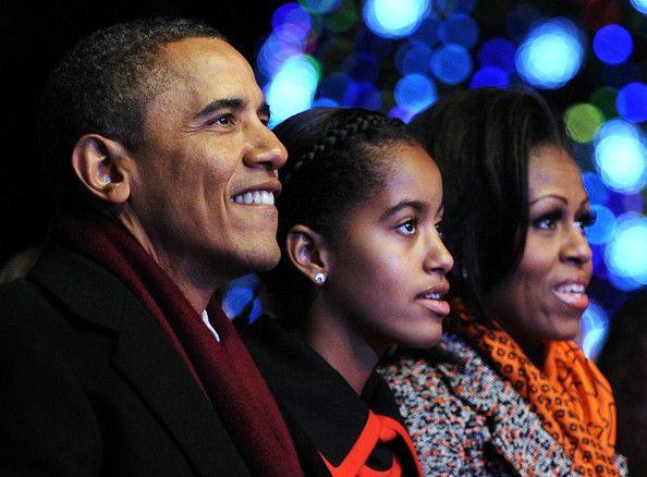 Barack Obama and Michelle Obama Photo - National Christmas Tree Lighting Ceremony Held On DC's Ellipse December 1, 2011