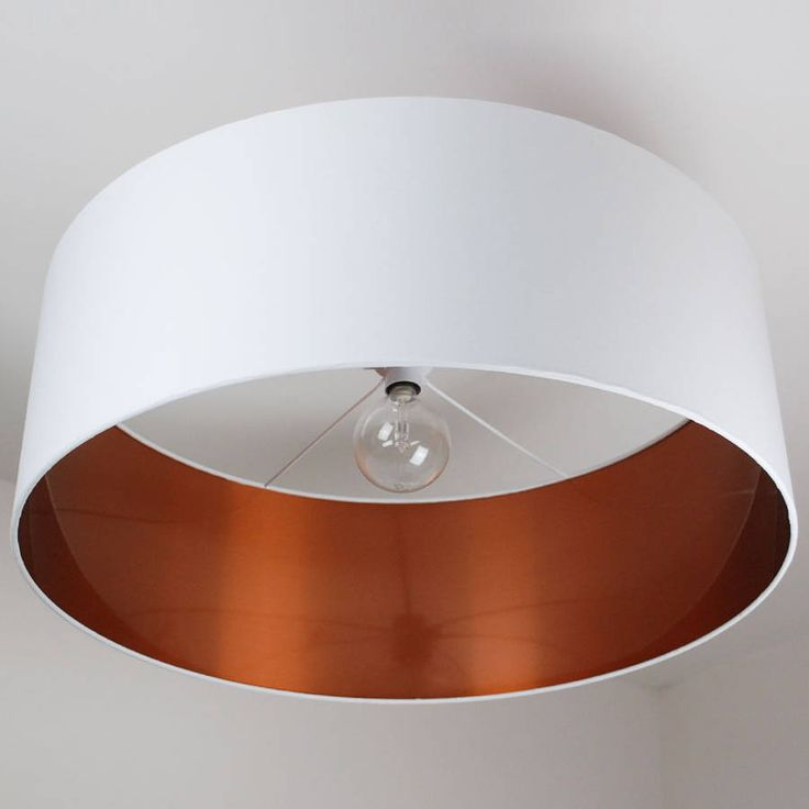 Oversize Brushed Copper Lined Ceiling Shade from notonthehighstreet.com
