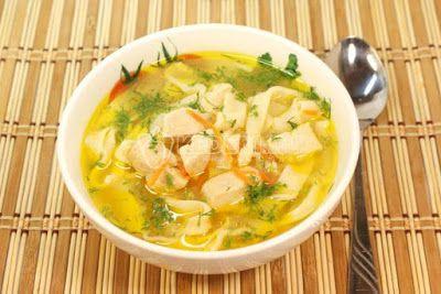 Ukrainian cooking: Homemade Chicken Noodle Soup