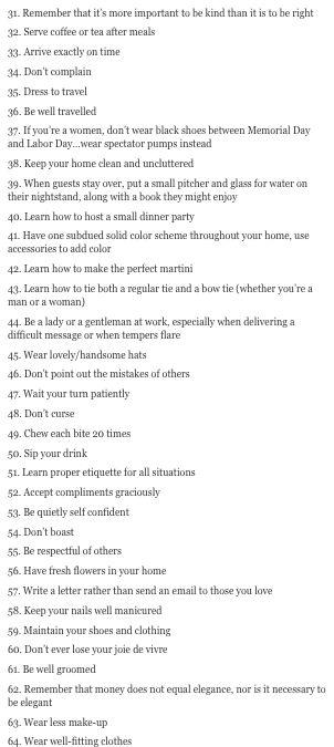 how to be elegant pt #2