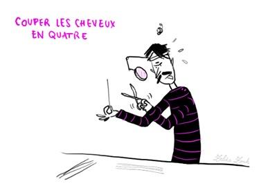 """couper les cheveux en quatre: raffiner à l'excès, s'arrêter à des détails. (ser tiquismiquis) exemple: «Vous m'aviez montré une œuvrette un peu tarabiscotée où vous coupiez les cheveux en quatre. Je vous ai donné franchement mon avis; ce que vous aviez fait ne valait pas la peine que vous le couchiez sur le papier.» (M. Proust, """"A la recherche du temps perdu"""", t. II) #expressions #idiomatiques"""