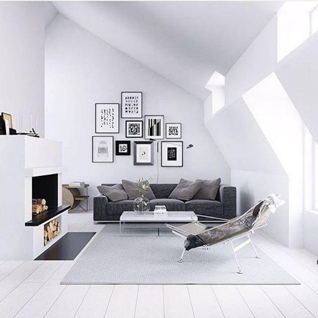 Scandinavian living room. via @minlor #simplicity #scandicliving #minimalism…