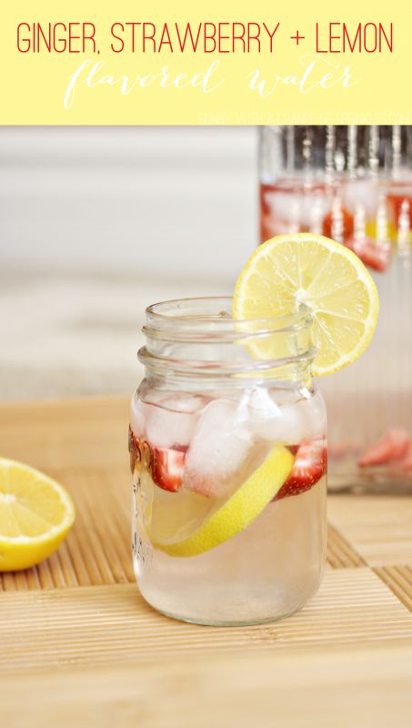 Ginger, Strawberry Lemon Flavored Water