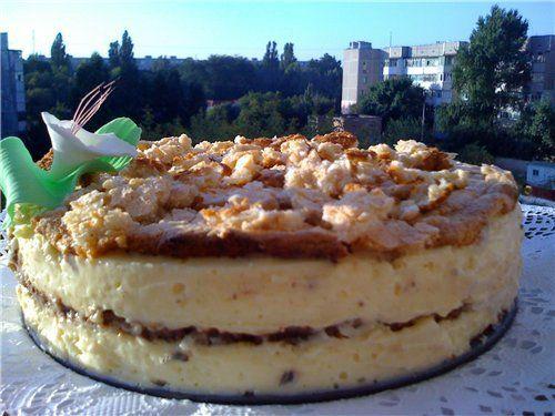 Орехово-лимонный тортик без муки