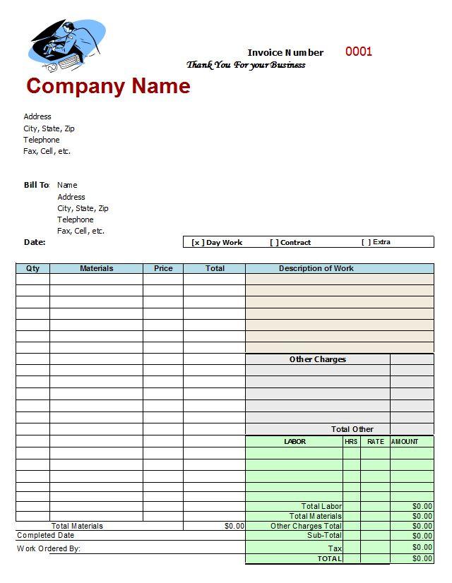 Create Free Invoice Template, 33 best invoice images on pinterest - create free invoice template