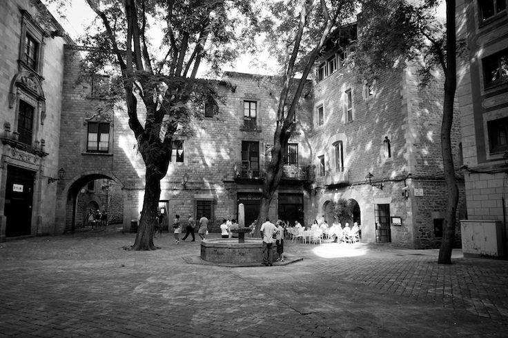 Barri Gotic (Gothic quarter) Barcelona, Spain.