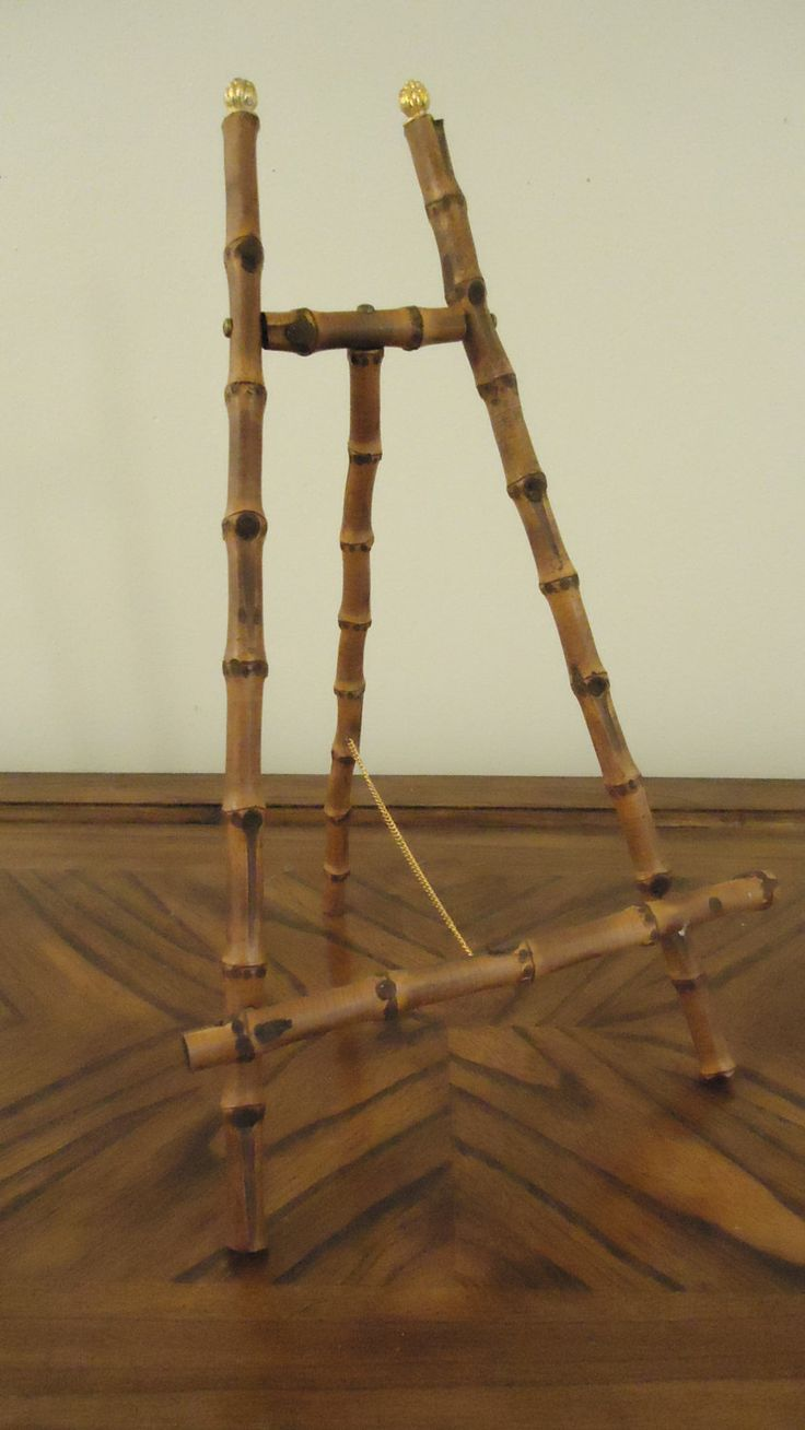 Vintage Large Table Top Bamboo Easel by FinleyandRickert on Etsy