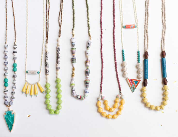 Bead jewelry, boho jewelry, summer fashion, trending jewelry Bohemian paper beads modern and unique necklaces