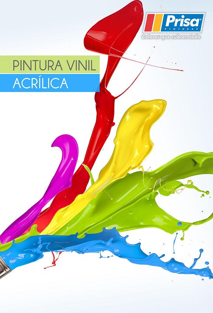 ¿Para qué superficies es recomendable la Pintura vinil acrílica? http://www.prisa.com.mx/pinterest/html/19_VinilAcrilica.html