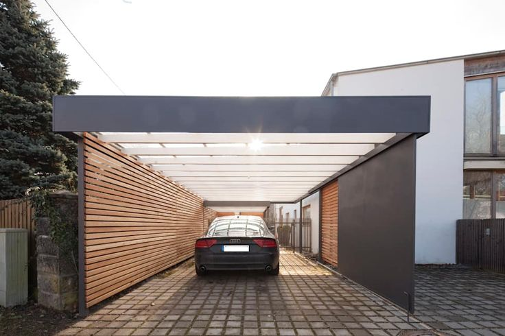 Carport: moderne Garage & Schuppen von Architekt Armin Hägele