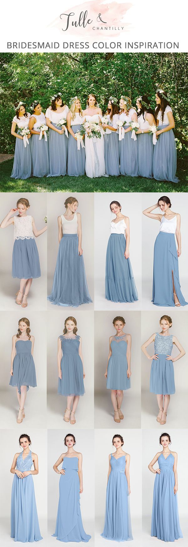 Windsor Blue Bridesmaid Dresses