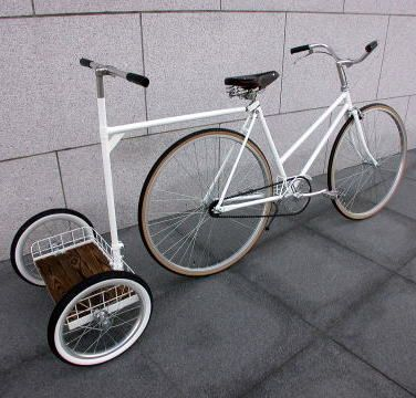 Bike Chariot | This would be hard to balance on, but it looks like so much fun!