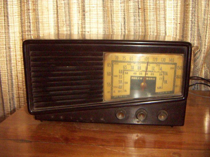 radio antigua philco (funcionando)