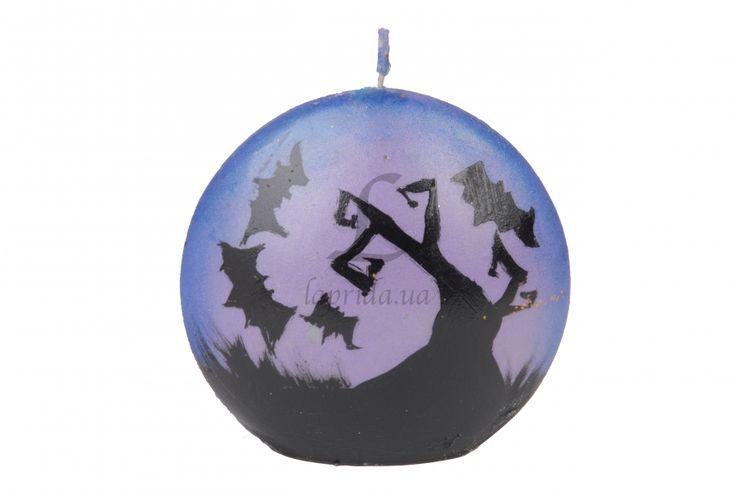 """Свеча на Хэллоуин """"Trees & bat"""" голубая - Оптовый интернет магазин товаров для бизнеса украшения для волос и различные аксессуары laprida.ua #свечи #декоративныесвечи #хэллоуин   #halloween #happyhalloween #candle"""