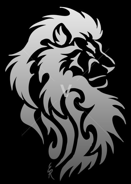 Lion Face Drawing Tribal Lion Head Tribal