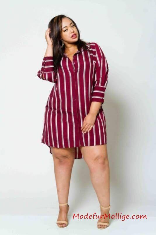 Hemdkleid – Mode inGroße Größen Styling Tipps für Mollige Frauen   Mode für Mollige Frauen – #GroßenGrößen #Kleider #modefürmollige #damenmode #outfit