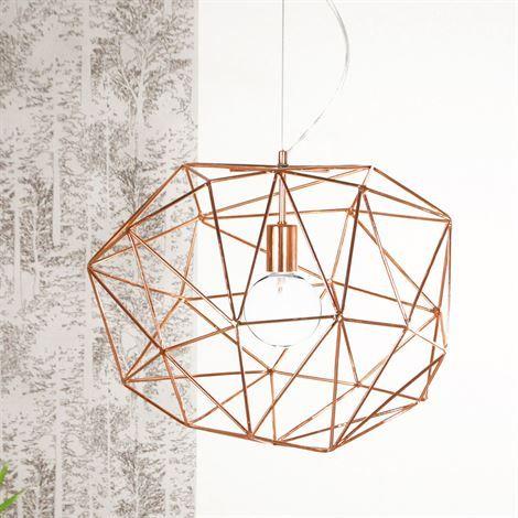 Diamond taklampa - koppar - Globen Lighting | Lamps ...