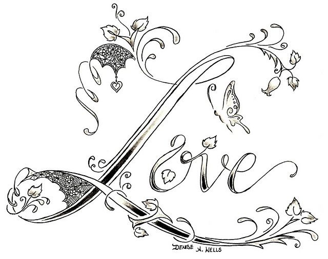 """""""Love Lace"""" Tattoo design by Denise A. Wells by ♥Denise A. Wells♥, via Flickr"""