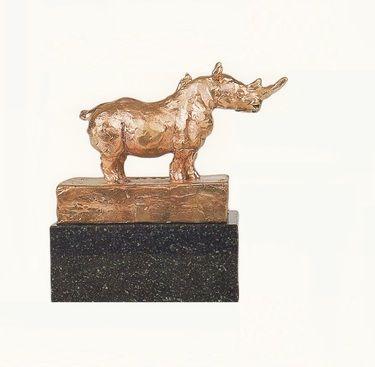 "Saatchi Art Artist Claudio Barake; Sculpture, ""RINO WITH BIRDS"" #art"
