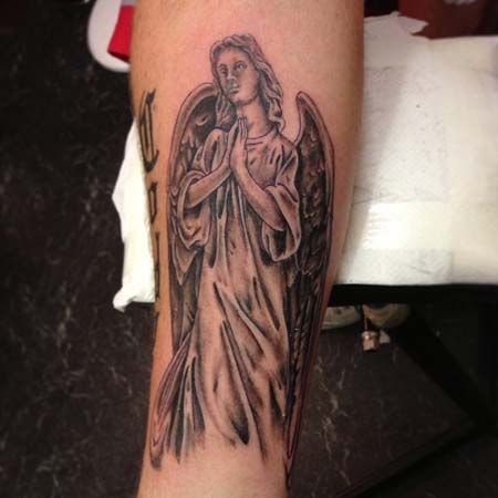 26 best swag forearm tattoos images on pinterest for Angel tattoos on forearm