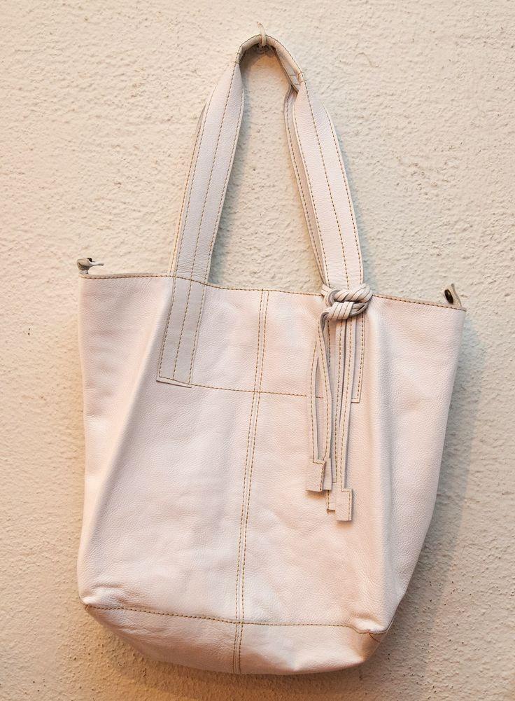 T. Lockman Olympia White Leather Handbag, $295.
