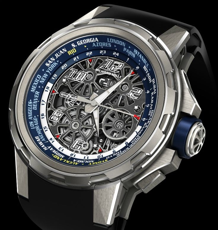 """Richard Mille RM 63-02 World Timer Automatic Watch - by Bilal Khan - see & read more about it on aBlogtoWatch.com """"Richard Mille is releasing a new world timer watch after their RM 58-01 from back in 2013, and this one is called the Richard Mille RM 63-02 World Timer Automatic. It is not a tourbillon, but it has got a brand new in-house movement, and this new world timer still sticks to the philosophy of the brand that the watch should be as easy to use as possible…"""""""