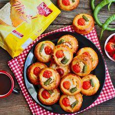 Glutensiz Mini Pizza Poğaça. Hem lezzet olarak hem görüntü olarak çok güzel bir tarif.