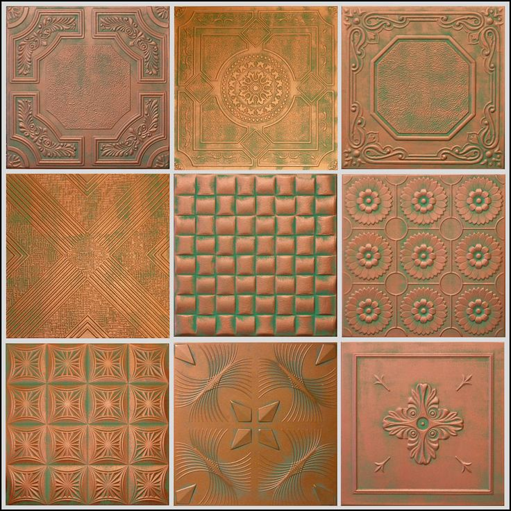 COPPER PATINA STYROFOAM 20x20 TIN LOOK CEILING TILES DIFFERENT PATTERNS | Home & Garden, Home Décor, Other Home Décor | eBay!