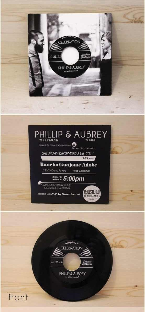 how to make film canister wedding invitations%0A Record wedding invitation