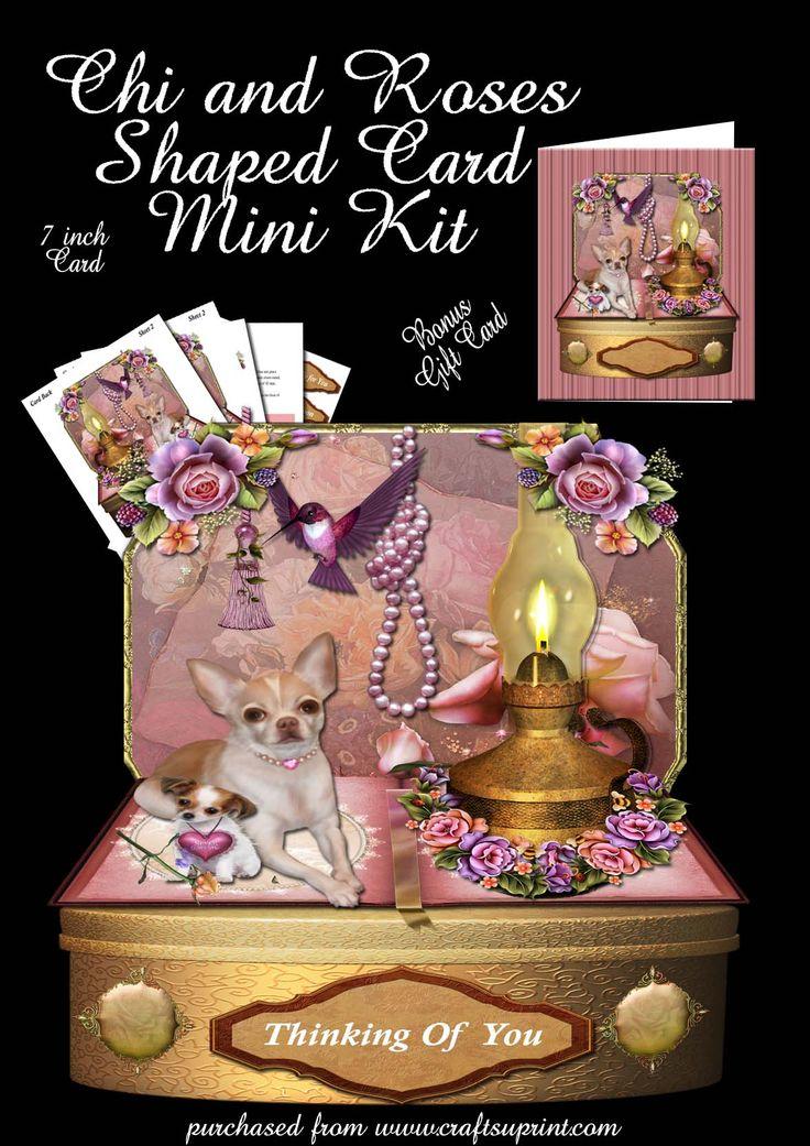 Chi and Roses shaped Card Kit