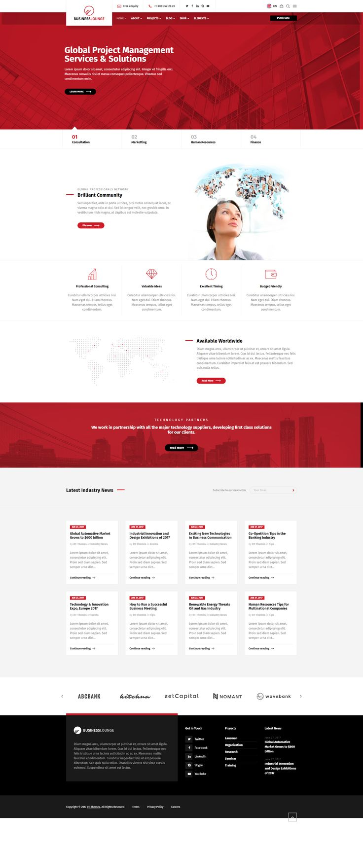 Business Lounge (RT-Theme 23) is a highly customizable #theme created for all kind of #business, info, and service #websites. Install, customize, create easily with the included powerful tools without touching a code. We have analyzed hundreds of business, consulting, finance, services and similar type of websites and created solutions for common problems. Business Lounge comes with powerful tools and comprehensive layouts you need to create a professional business website with a modern…