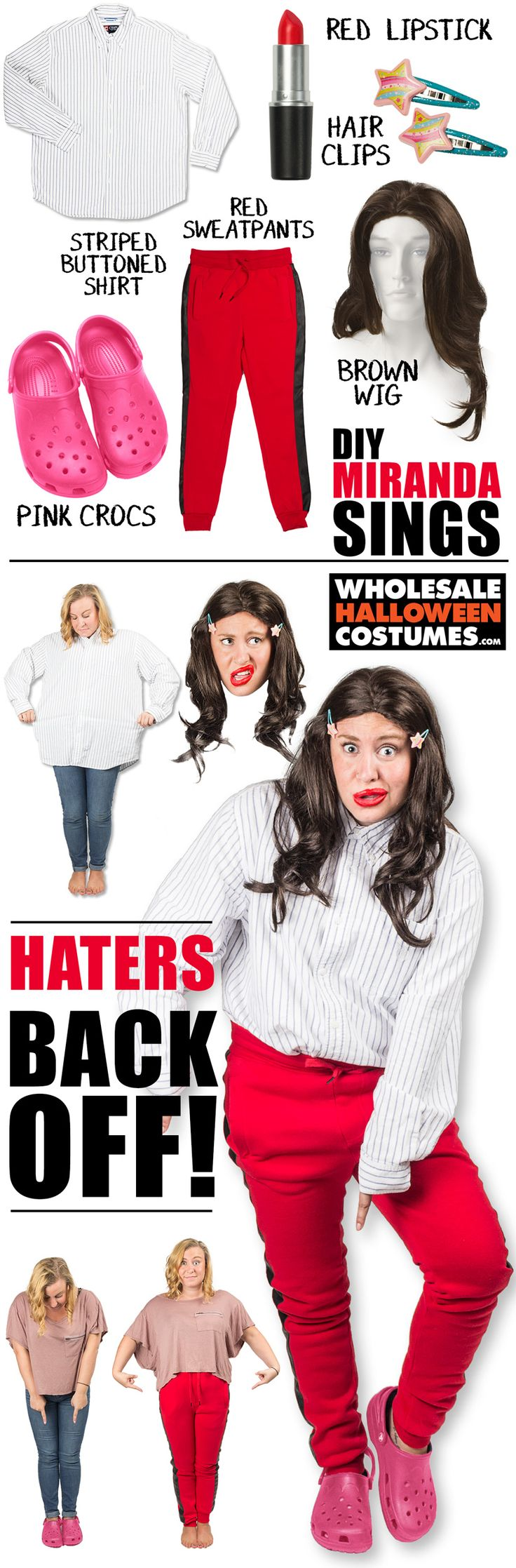 Become the four threat herself, Miranda Sings with this DIY costume.