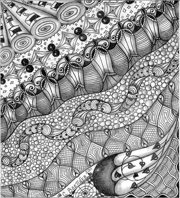 Just like this one.: How To Do Zentangle, Zentangle Drawings, Zen Tangled, Zentangle Art, Zentangle Birds, Zentangle Doodles, Zentangle Zentangle, Zentangle Patterns, Zentangle Inspiration